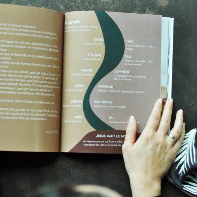 livre d'étude Agape graphisme